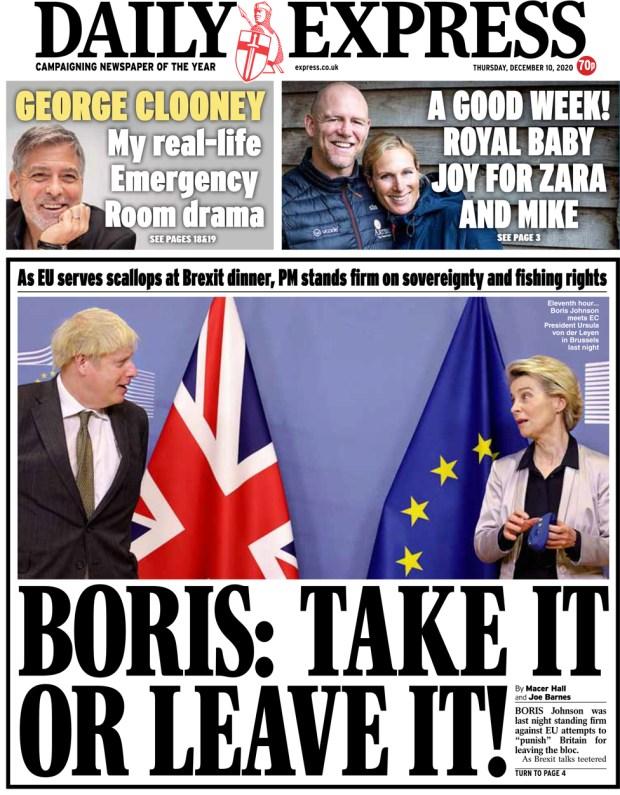 Daily Express 10 December