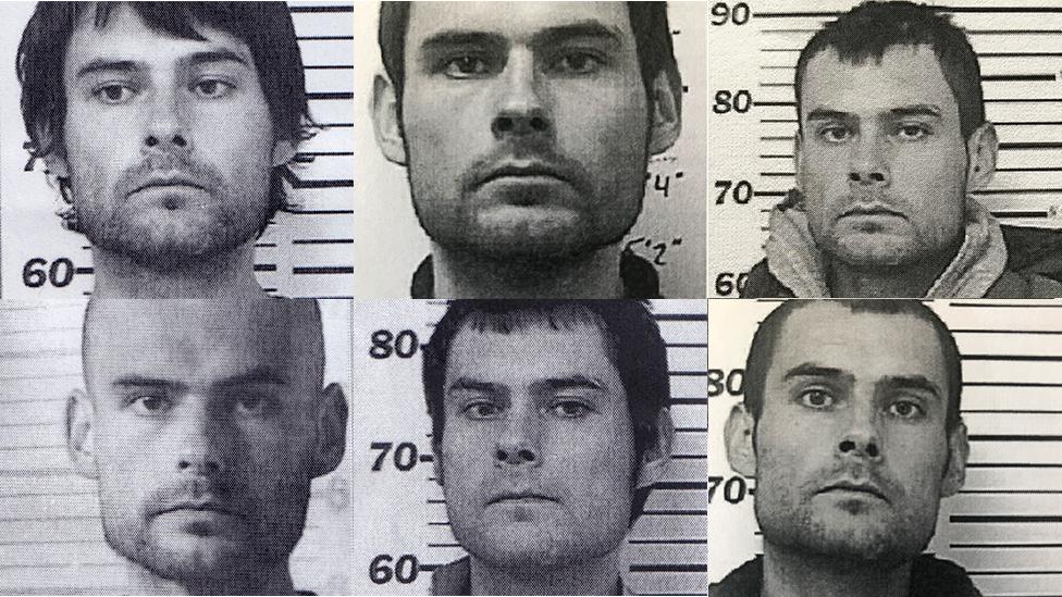 Algunas de las fotografías del expediente policial de Jesse Thistle.