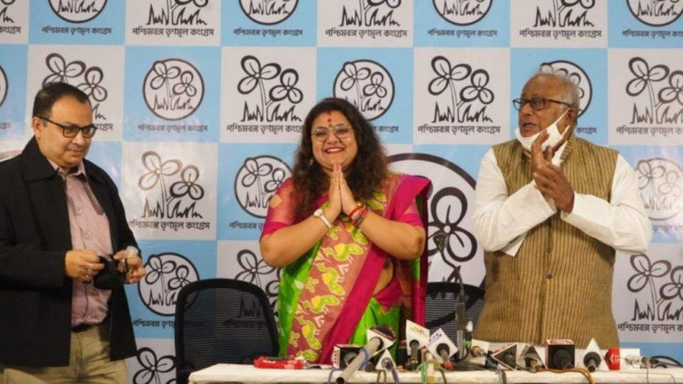 Sujata Mondol Khan joined TMC on Monday