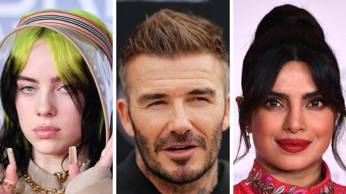 Billie Eilish, David Beckham and Priyanka Chopra Jonas