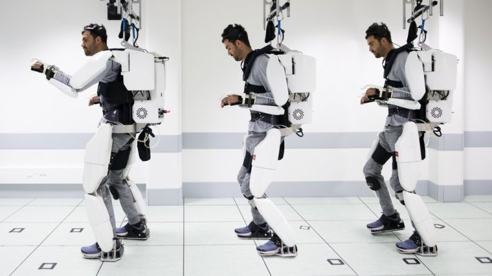 This intelligently controlled exoskeleton enabled a paralyzed person to walk