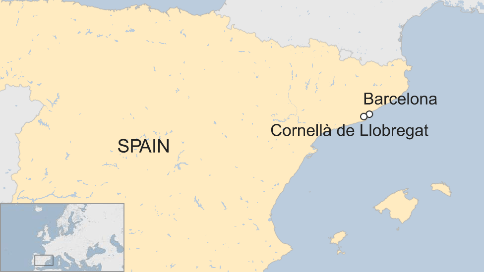 Map Of Spain Near Barcelona.Knife Attacker Shot By Police Near Barcelona The Trending Press News