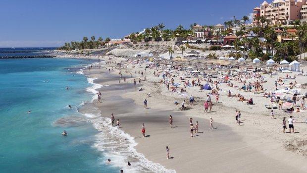 A beach in Tenerife