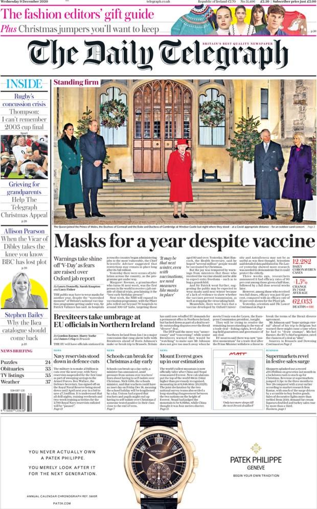 Daily Telegraph - Wednesday 9 December
