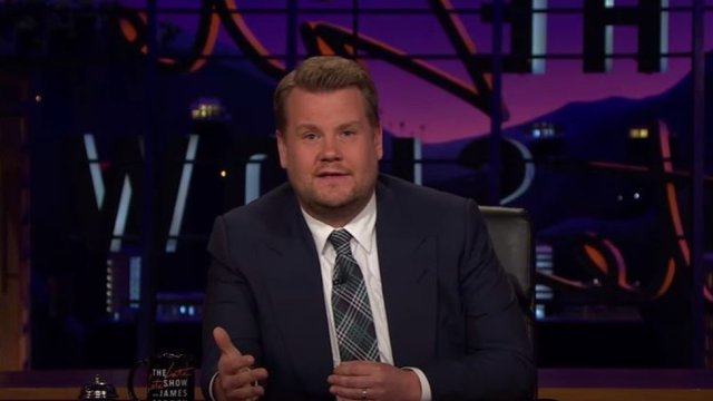 James Corden pays emotional tribute to Manchester following attack