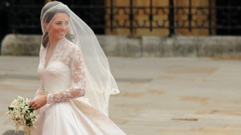 Duchess of Cambridge on her wedding day