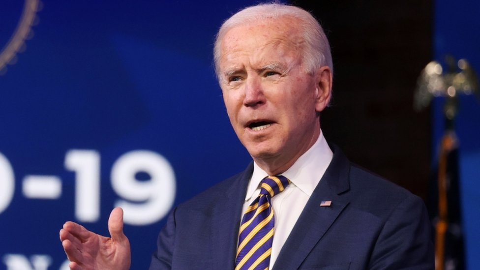 US President-elect Joe Biden delivers remarks on the American response to the coronavirus outbreak