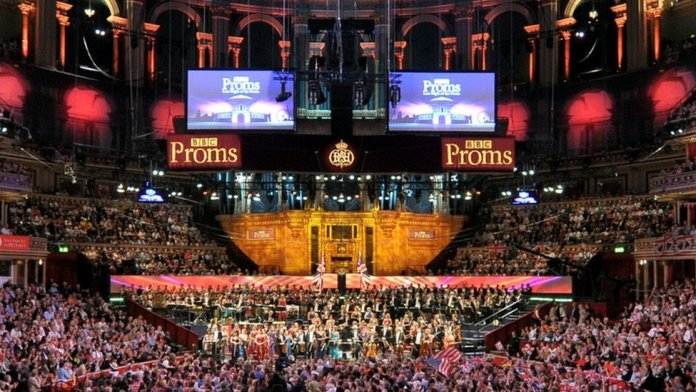 Inside the Royal Albert Hall during the Proms