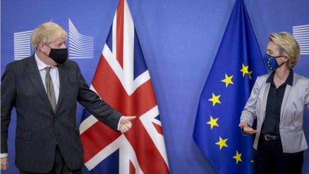 Boris Johnson meeting Ursula von der Leyen on 9 December