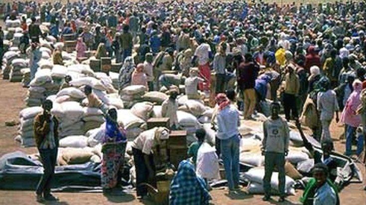 इथियोपिया में हार्टिशेक के पास शरणार्थी शिविर - संग्रह शॉट