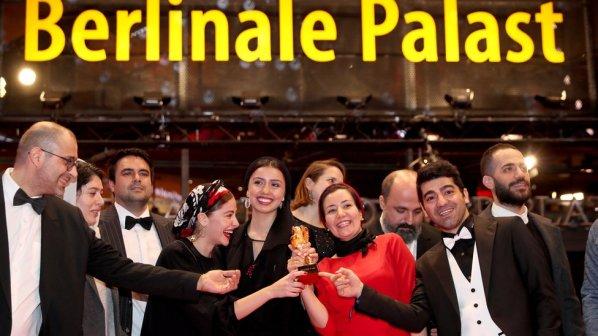 Film staff celebrated winning the Great Berlinale Award