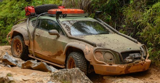 The team driving in Madagascar