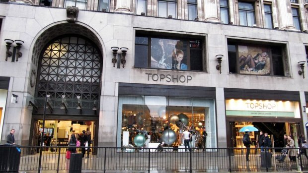 Topshop store in Oxford Circus