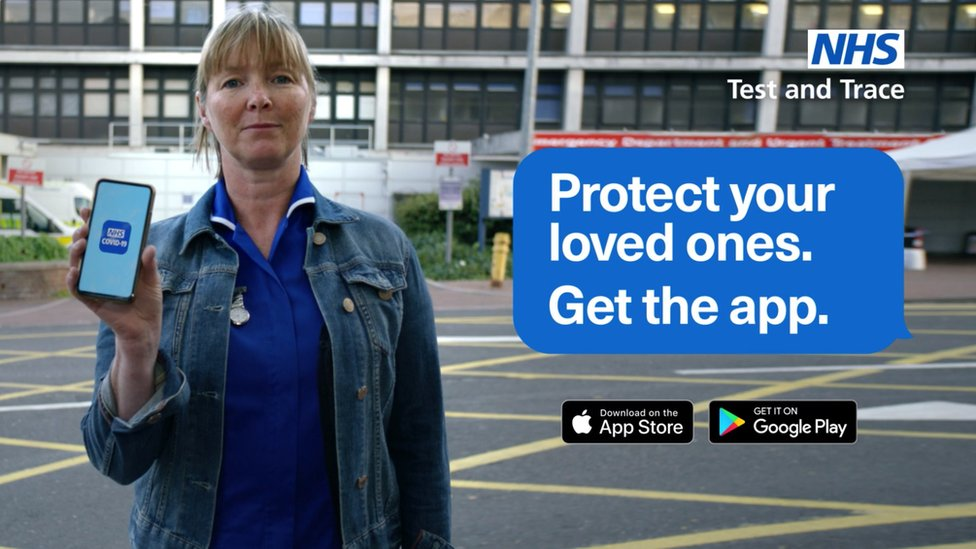 Advert for the app