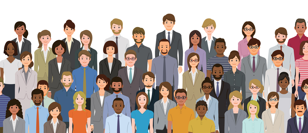 Group of people - graphic