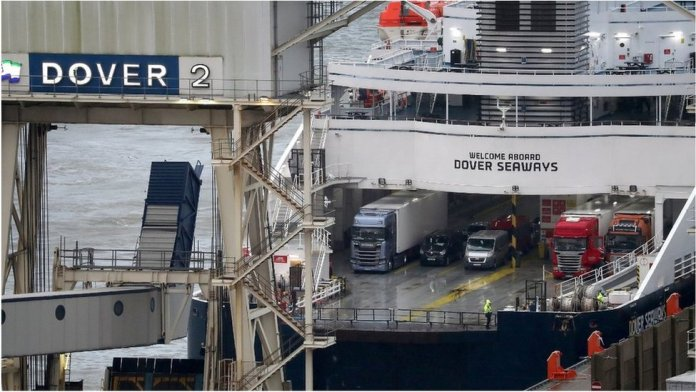 Trucks arriving at Dover