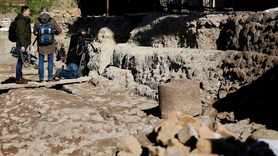 Entrada a un santuario subterráneo que, según se cree, puede estar dedicado a Rómulo, el fundador legendario de Roma.