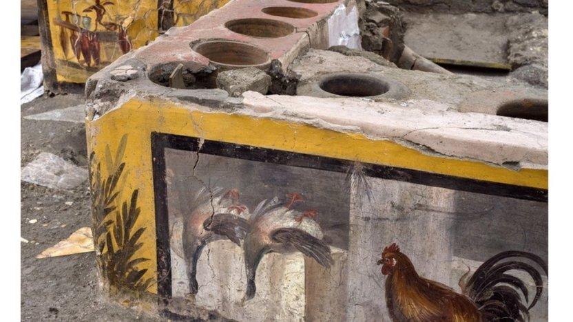 """116269203 tv064953973 - El extraordinario hallazgo de un puesto de """"comida rápida"""" en Pompeya"""