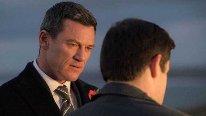Luke Evans filming The Pembrokeshire Murders