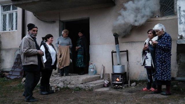 People in Shusha of Nagorno-Karabakh