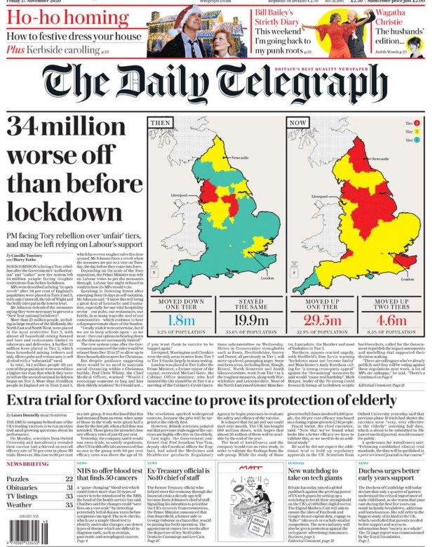 The Daily Telegraph 27 November