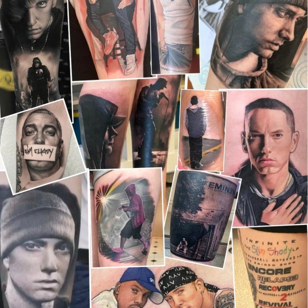 Eminem tattoos