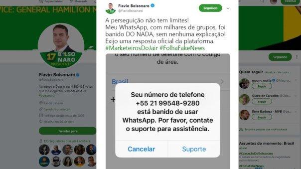 Tuit de Flavio Bolsonaro.