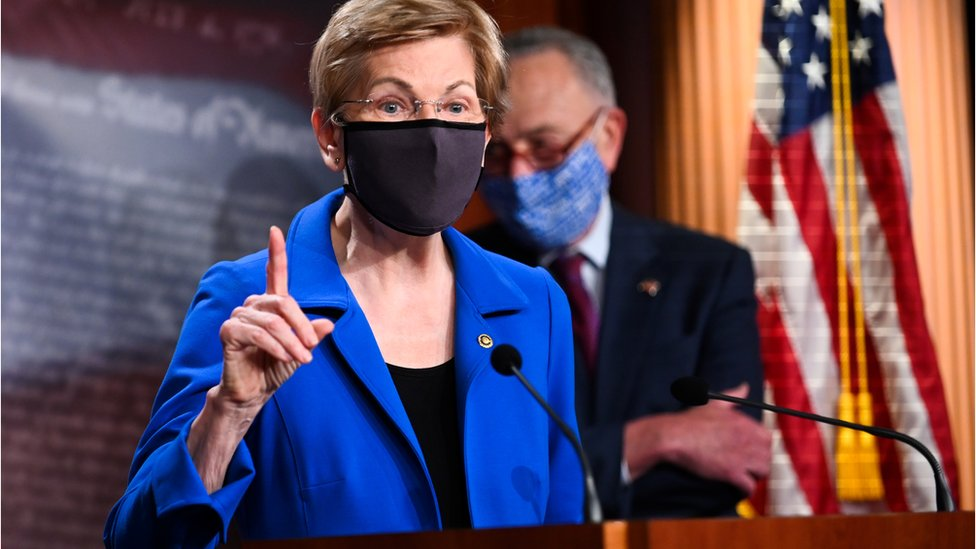 Elizabeth Warren and Chuck Schumer