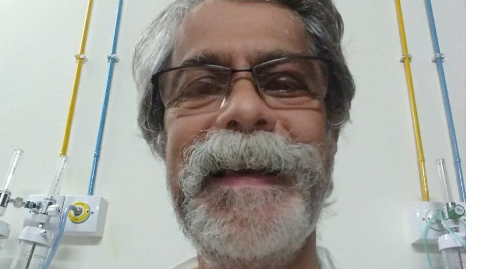 Mr Ketkar in hospital