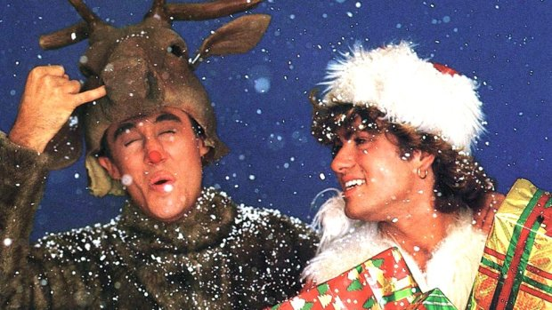 Wham on the single cover for Last Christmas