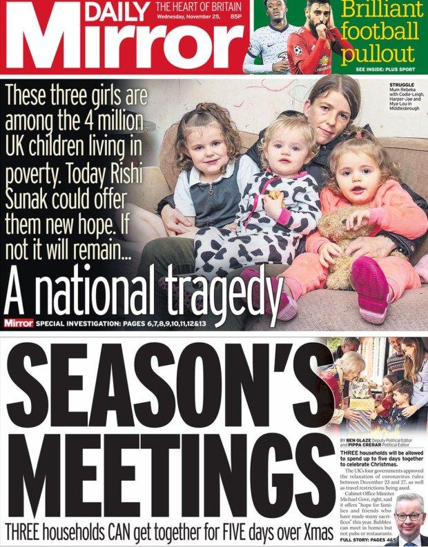 Daily Mirror 25 November