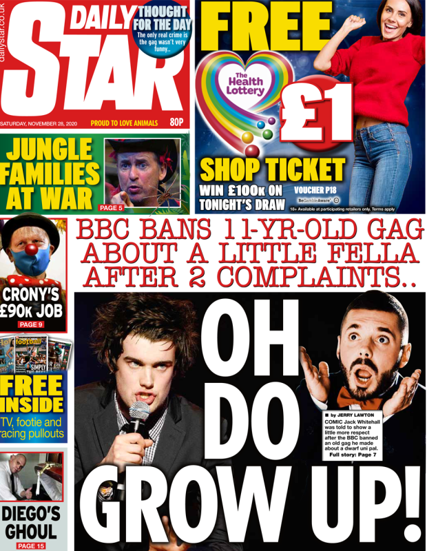 The Daily Star front page 28 November 2020