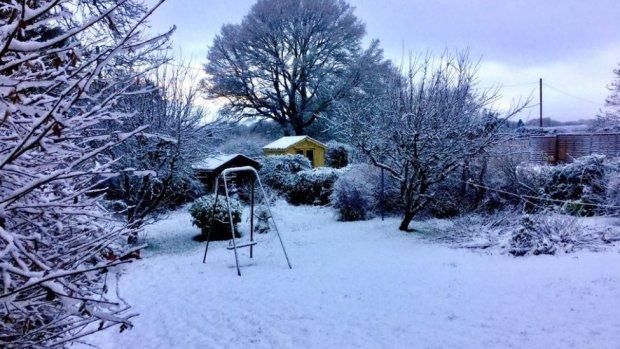 Snow in Llandrindod Wells