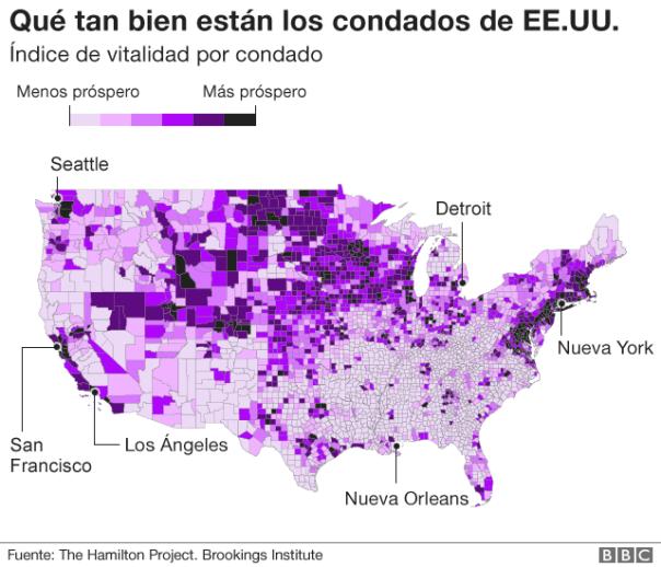Gráfico sobre el índice de vitalidad de los contados de EE.UU.