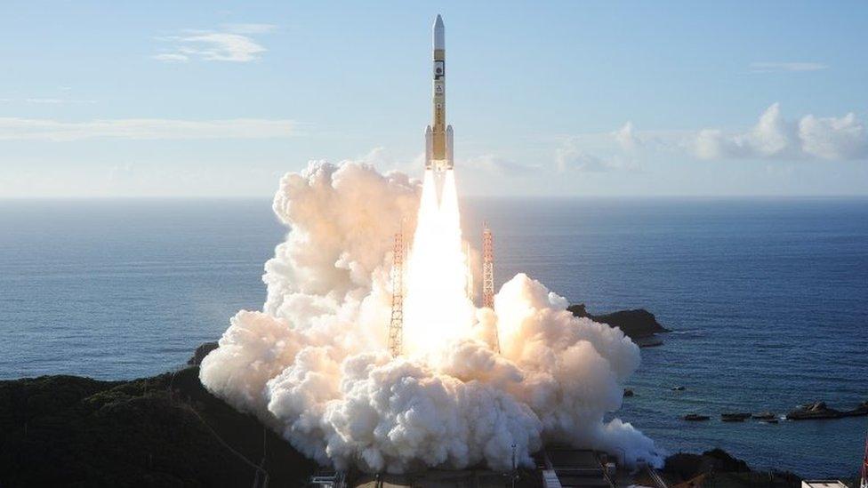 El cohete que transporta la sonda de los Emiratos Árabes Unidos despegó de Japón en julio.