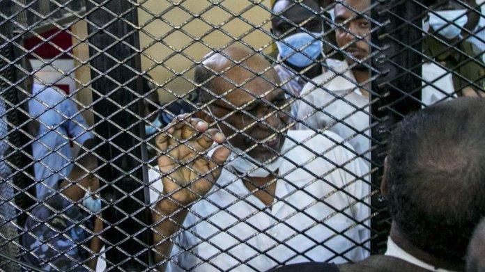 Sudan's ousted President Omar al-Bashir appears in court in Khartoum, Sudan on September 1, 2020.