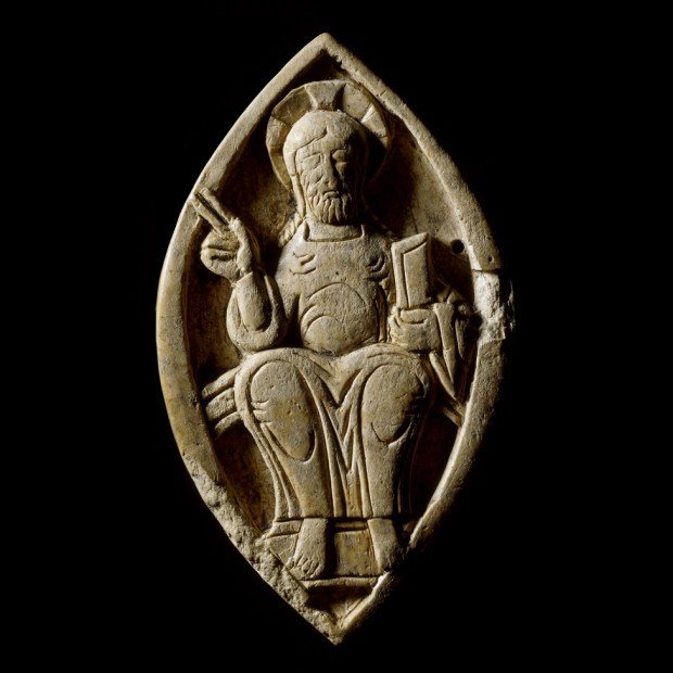 Ivory plaque showing Christ in Majestry