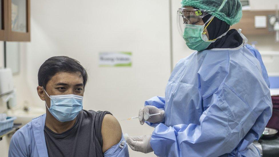 Vaksin Covid-19: Vaksinasi massal tanpa tes dan telusur kontak yang memadai  'akan membiarkan virus corona leluasa menyebar' - BBC News Indonesia