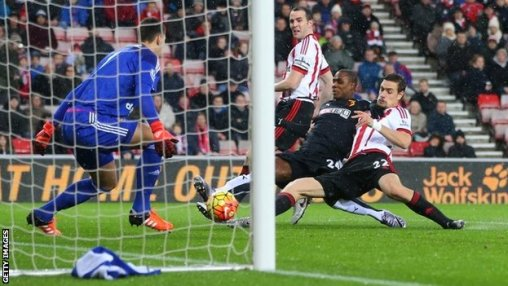 Ighalo and Coates both appeared to make contact with Nyom's cross for Watford's winner.