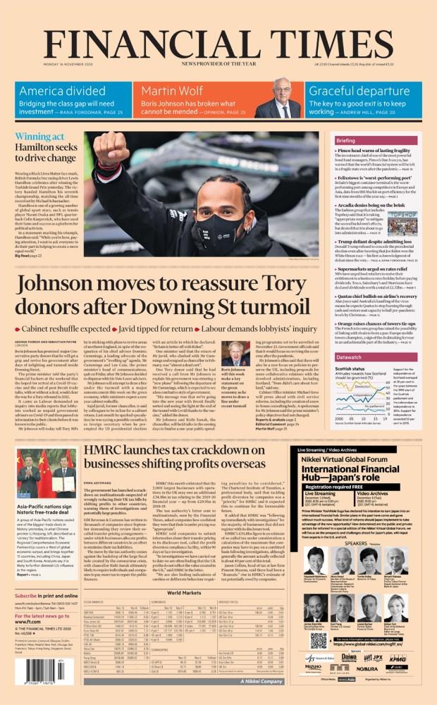 Financial Times Monday 16 November