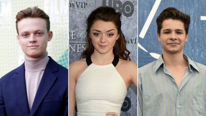 Anson Boon, Maisie Williams and Toby Wallace