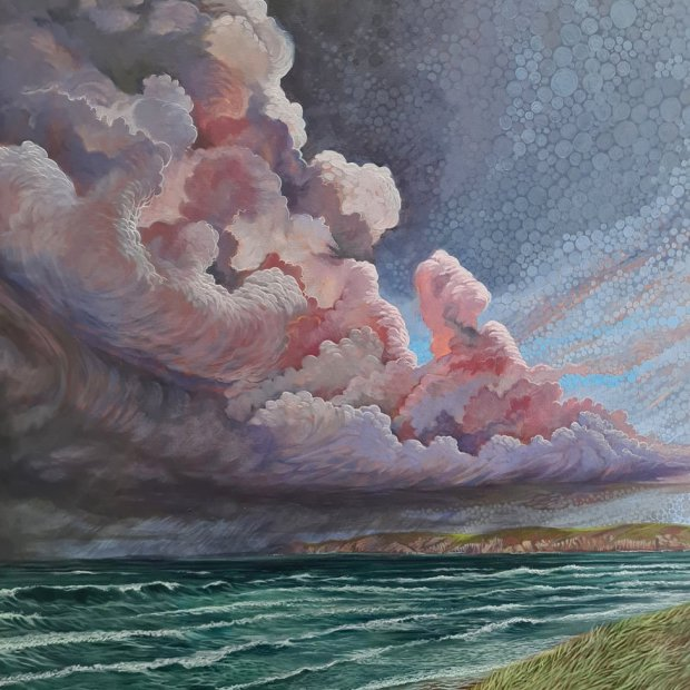 Carl's paining of the Pembrokeshire coast