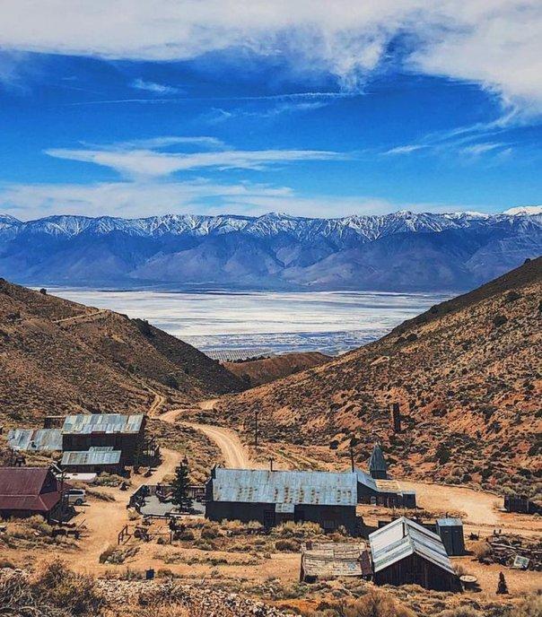 Una vista de Cerro Gordo