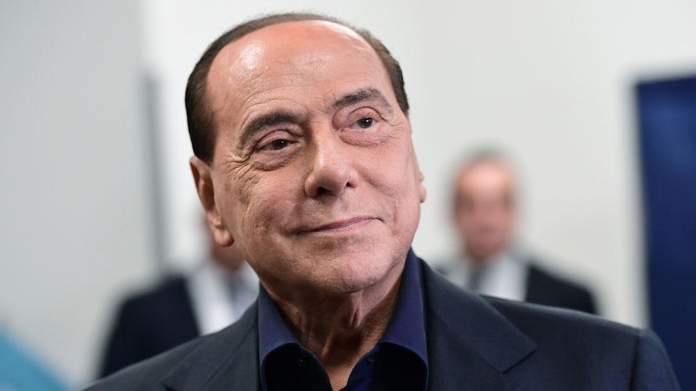 Silvio Berlusconi at a polling station, 2019