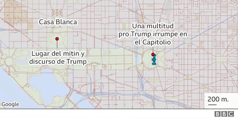"116374275 capitol map640cropped mundo 2x nc - Asalto al Capitolio: Las palabras que le costaron a Trump el segundo ""impeachment"""
