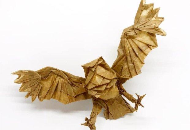 An Origami Blakiston's Fish Owl (Katsuta Kyohei)