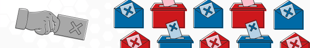 Section image showing ballots and ballot boxes
