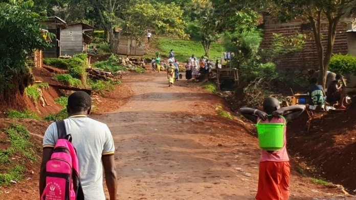A street in DR Congo