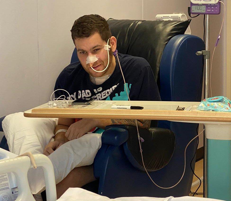 Omar Taylor in hospital