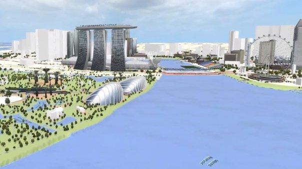 Vista virtual de Singapur